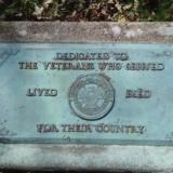 Plaque dedicated to veterans
