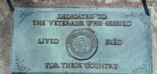 Plaque dedicated to veterans