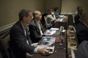 Jeff and Forrest during breakout session, coordinated by Michael McDermott, Blackstone.