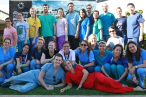 Optometry students in the Dominican Republic