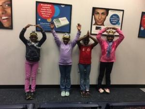 Four girls from the African Children's Choir