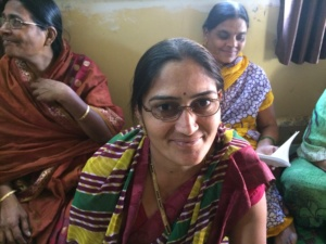 A woman with glasses in India