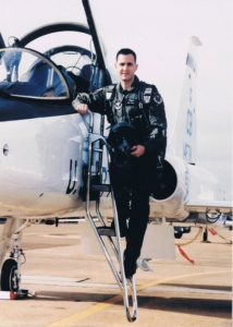 Lieutenant Spande with a T-38 Talon