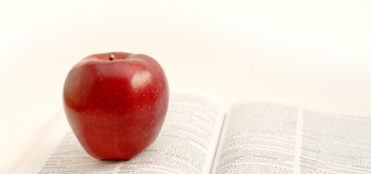 apple and a book
