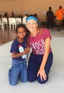 Honduras SVOSH Volunteer With Little Girl