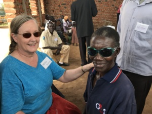 Millie Roberts and man in Uganda