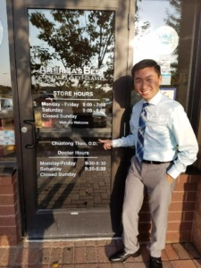 Dr. Thao in front of America's Best